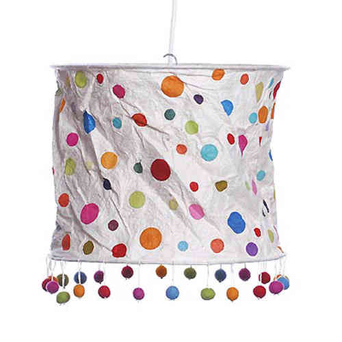 Lokta Paper Lampshade - Points nature