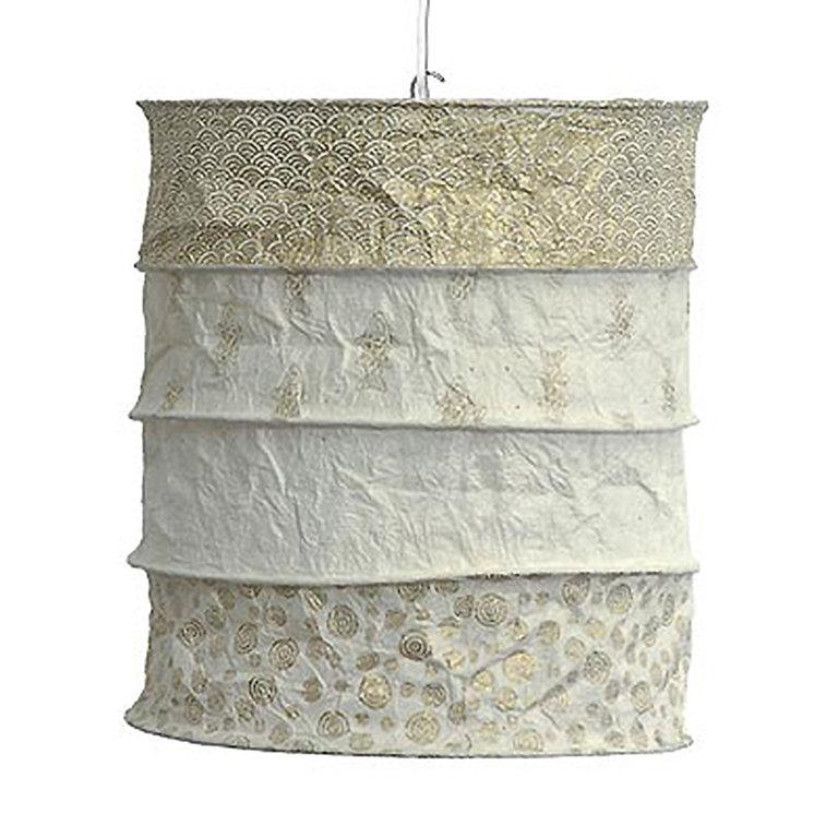lokta papier lampenschirm calais natur gold aus loktapapier. Black Bedroom Furniture Sets. Home Design Ideas