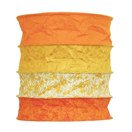 Lokta Paper Lampshade - Bari orange