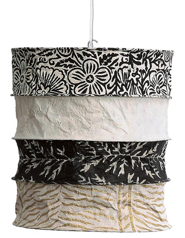 lokta papier lampenschirm casablanca. Black Bedroom Furniture Sets. Home Design Ideas
