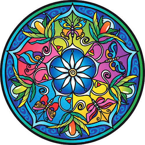Fenstermandala - Wildflower Garden