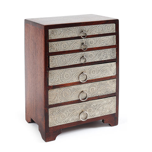 Casilla Silvico Mangowood box 6 drawers