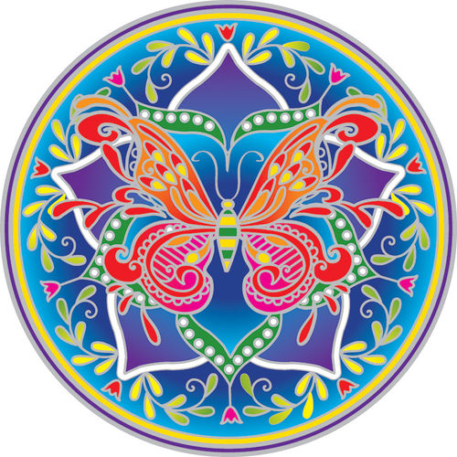 Fenstermandala - Butterfly Mandala